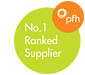 PfH no.1 ranked supplier 2017-2020